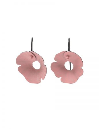 Small Anemone Earrings - Pink & Black