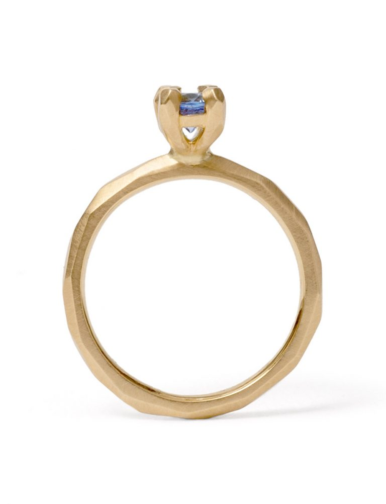 Soul Mate Ring – Yellow Gold & Cornflower Blue Sapphires