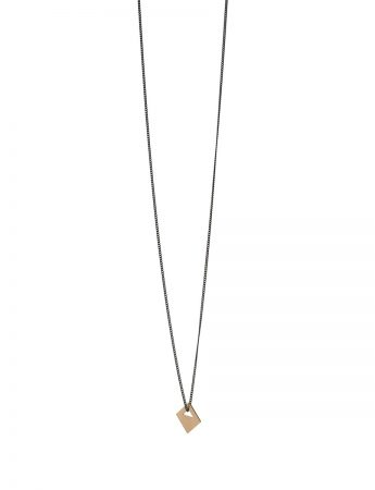 Square Tab Necklace - 9ct Gold