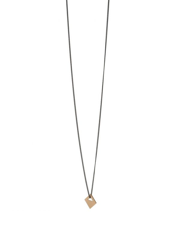 Large Tab Necklace – 9ct Gold