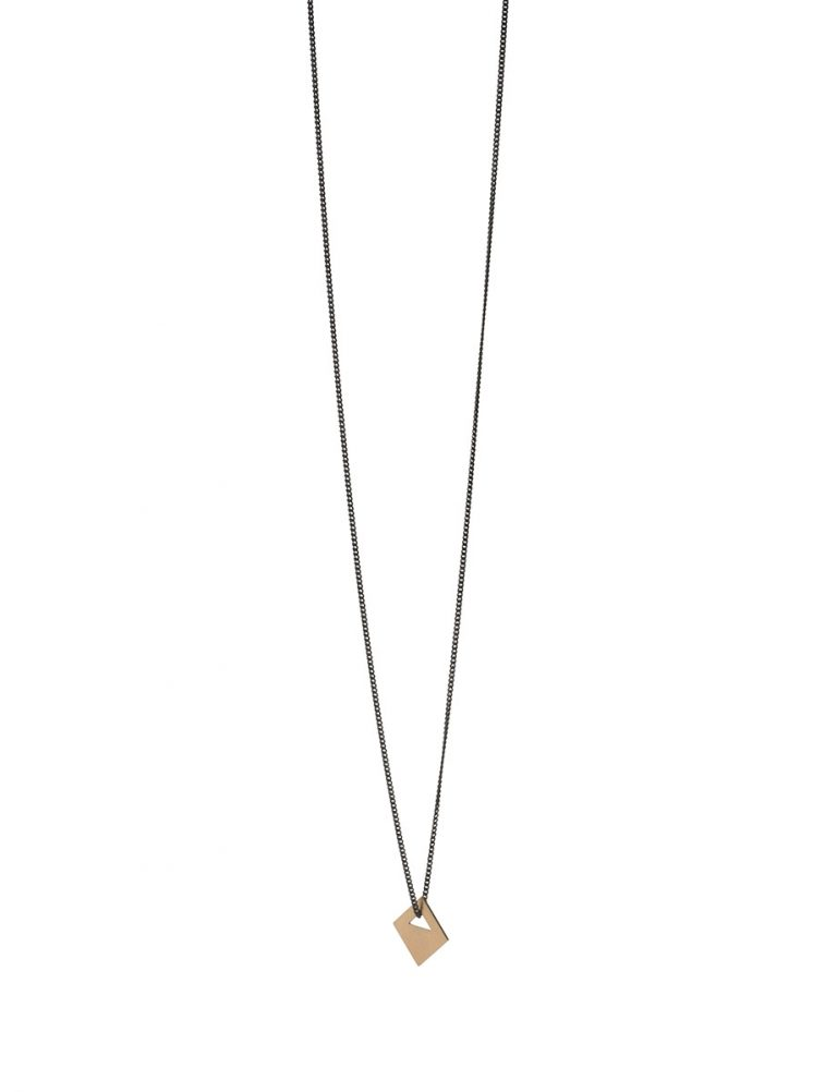 Square Tab Necklace – 9ct Gold