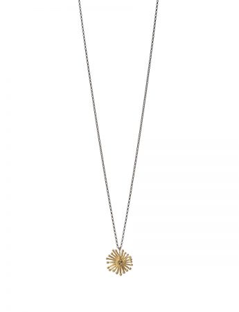 Starburst Necklace - Gold & Black Diamond