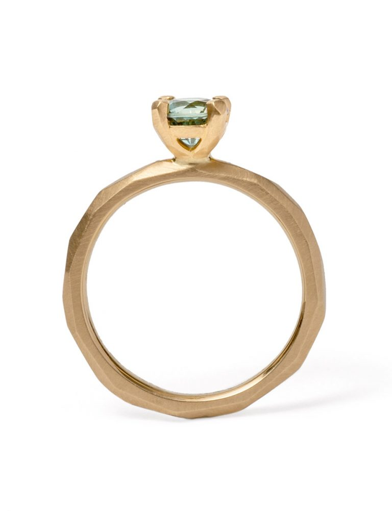 Summer Sky Ring – Teal Sapphire