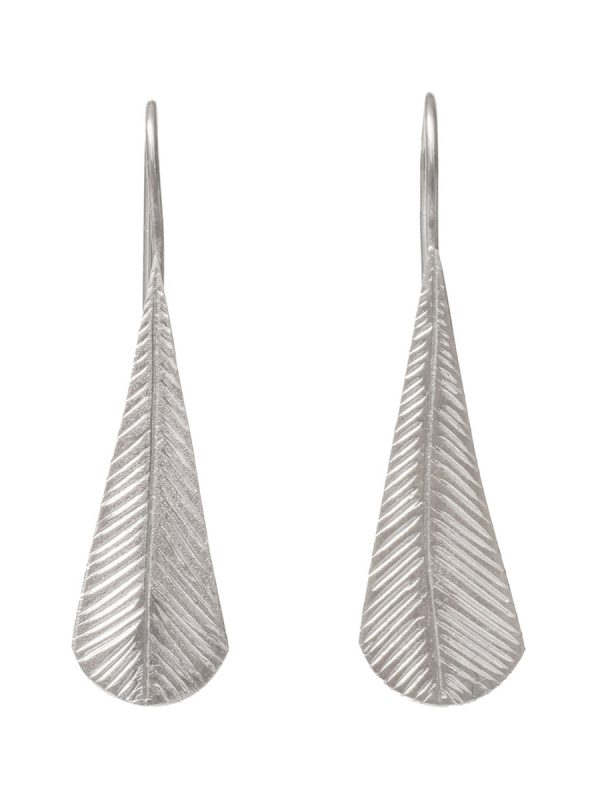 Tail Feather Earrings – Silver