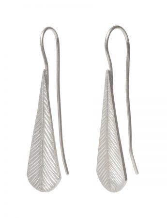Tail Feather Earrings - Silver