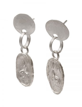Thebe Drop Stud Earrings - Silver