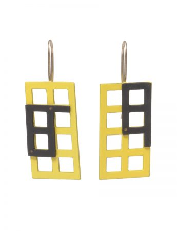 Window Earrings - Yellow & Black