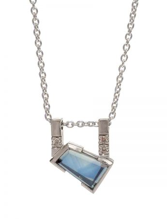 Agility Necklace - Blue Sapphire & Diamonds