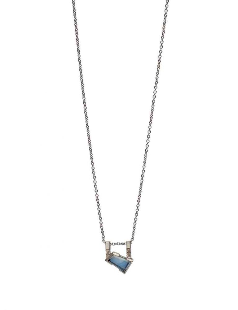Agility Necklace – Blue Sapphire & Diamonds