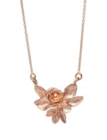 Angel Rose Pendant Necklace - Rose Gold