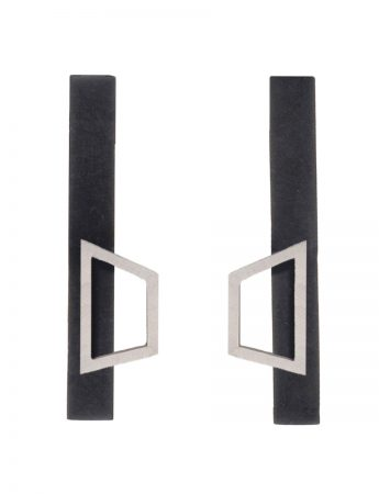 Angular Floating Outline Earrings