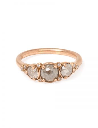Arctic Autumn Grey Diamond Ring - Rose Gold