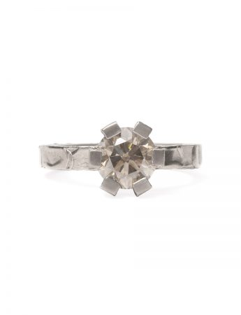 Big Smokey Ring - White Gold with Diamond