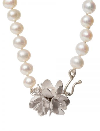 Bouquet Clasp Pearl Strand Necklace