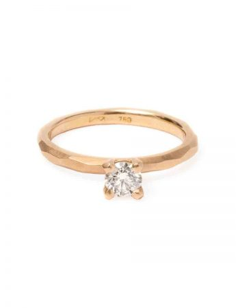 Champagne Diamond Ring - Rose Gold