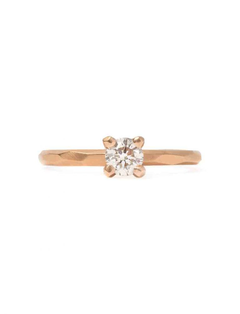Champagne Diamond Ring – Rose Gold