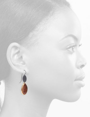 Glitter Teardrop Hook Earrings – Chestnut