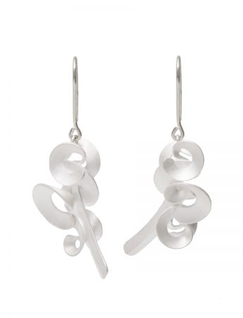 Cloud & Wind Hook Earrings - Silver