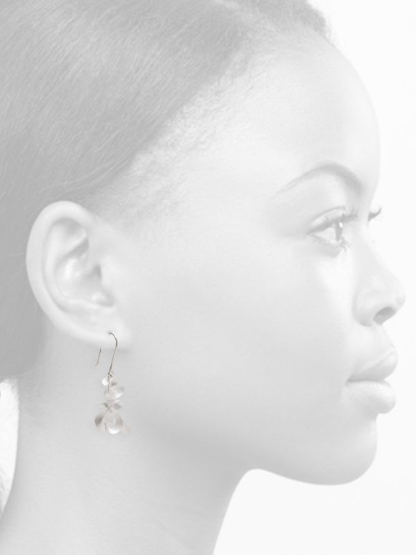 Cloud & Wind Hook Earrings – Silver