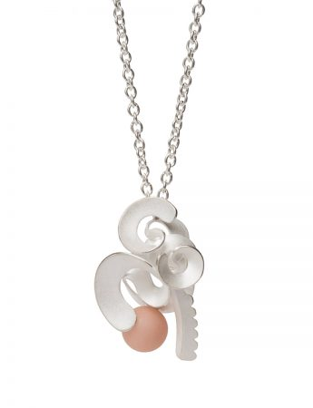 Cloud and Wind Pendant Necklace - Pink