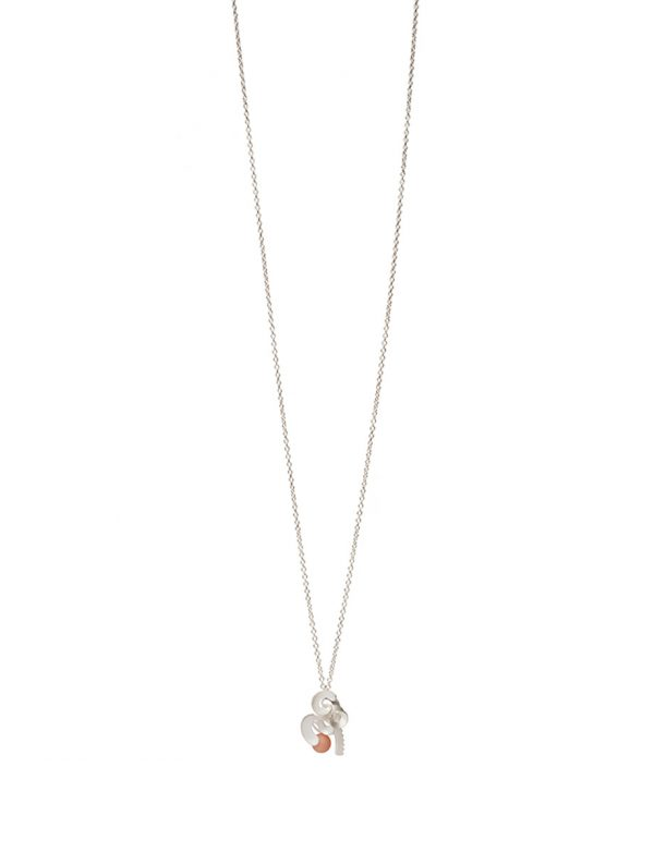 Cloud and Wind Pendant Necklace – Pink