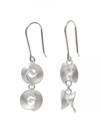 Cloud Hook Earrings - Silver