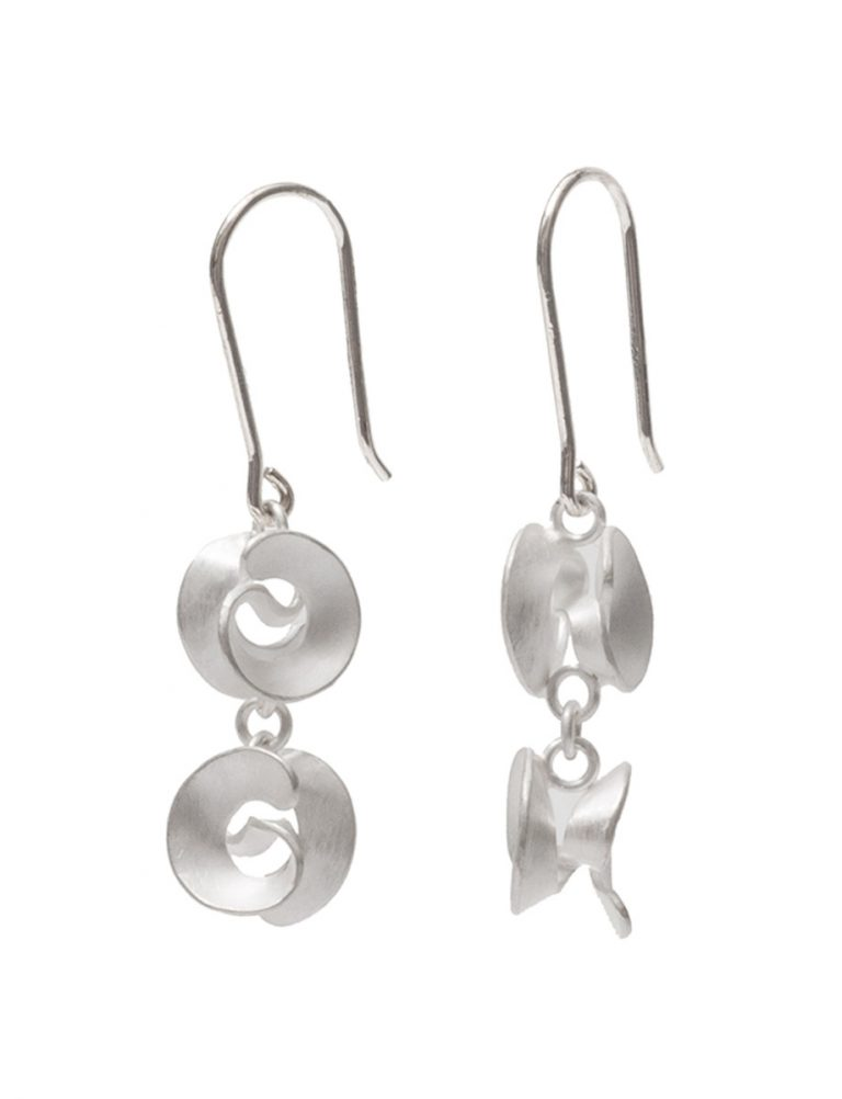 Cloud Hook Earrings – Silver