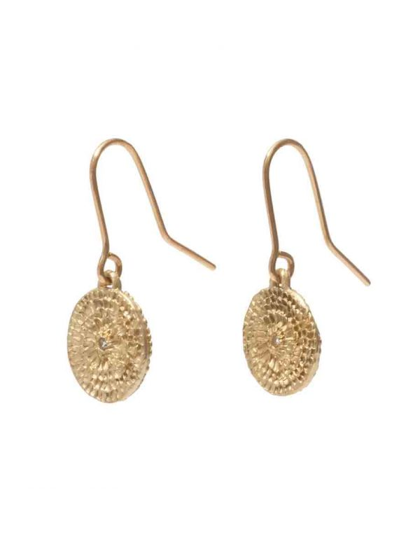 Continuum Earrings – Gold & White Sapphire