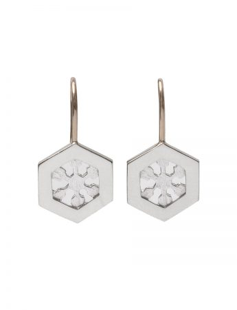 Crystal Nucleus Earrings – Silver & Gold