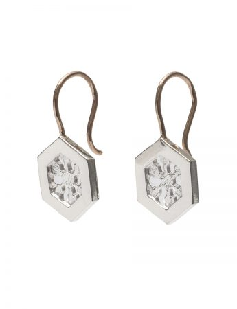 Crystal Nucleus Earrings - Silver & Gold