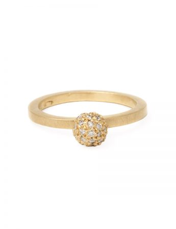 Daylight Micro Sphere Ring - Yellow Gold and White Diamonds