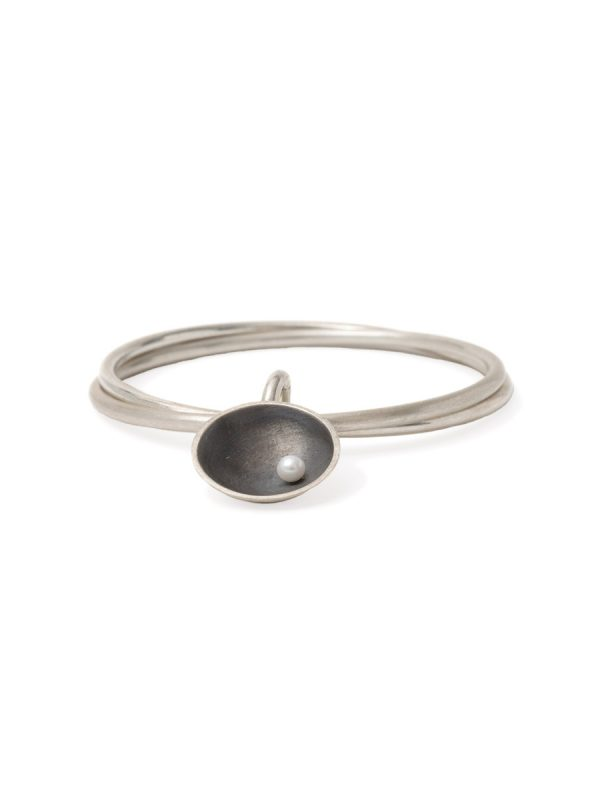 Double Bangle – Sea Dish with Pearl