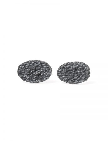 Droplet Stud Earrings - Black