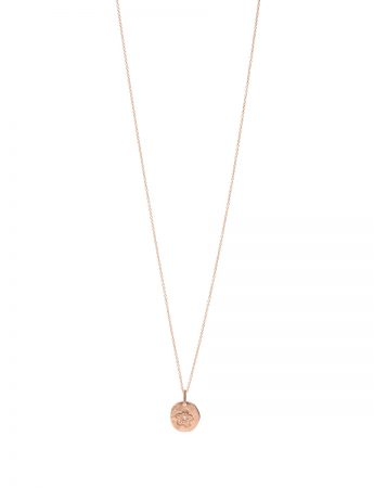 Flower Pendant Necklace – Rose Gold & Diamond