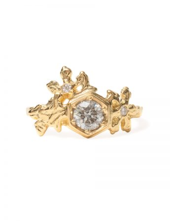 Frozen Crystals Ring - Gold & Diamonds