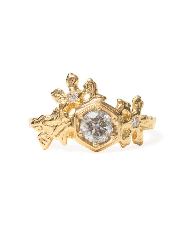 Frozen Crystals Ring – Gold & Diamonds