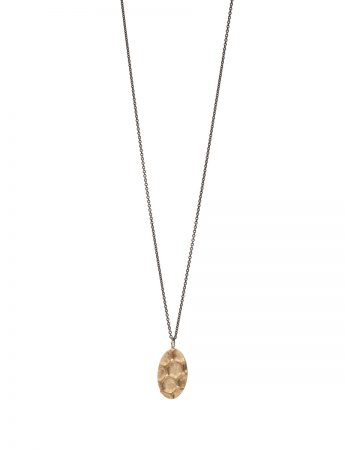Gold Honeycomb Pendant Necklace – Diamonds