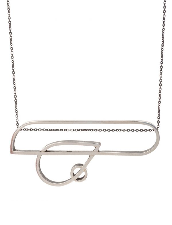 Intersected Teardrop Outline Necklace