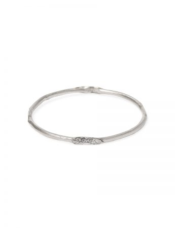 Japanese Blossom Stacking Bangle - Silver