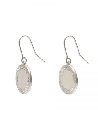 Large Drift Hook Earrings - Silver