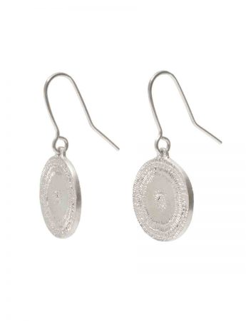 Large Rise Hook Earrings - Silver