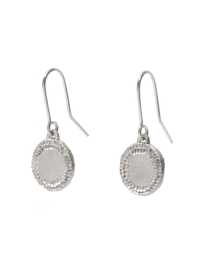 Large Shift Hook Earrings – Silver