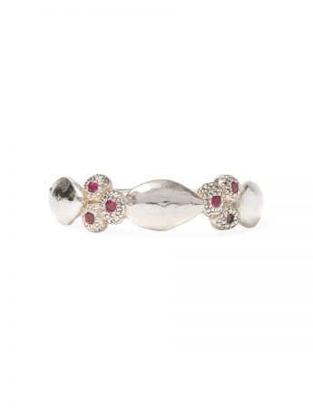 Leaf & Seeds Ring - Pink Sapphires & Garnets