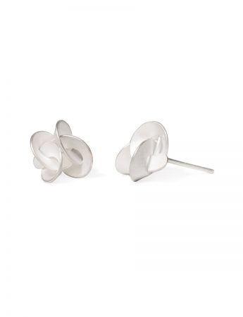 Medium Cloud Stud Earrings - Silver
