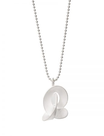 Medium Cloud Pendant Necklace - Silver