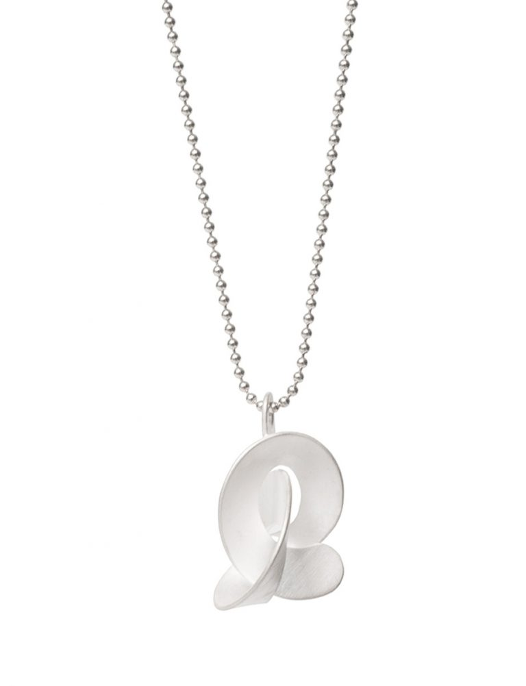 Medium Cloud Pendant Necklace – Silver