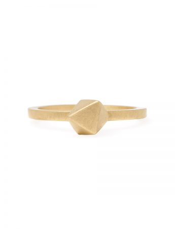 Micro Octahedron Ring - Yellow Gold