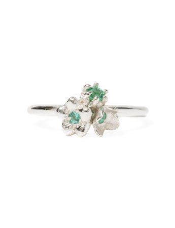 Mini Posy Ring - Mint Green Tourmalines