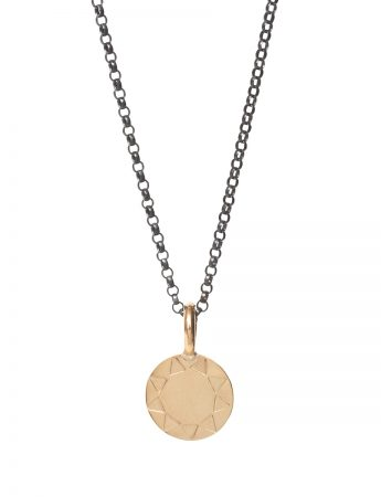 Mini Sundisk Open Sun Necklace - Gold
