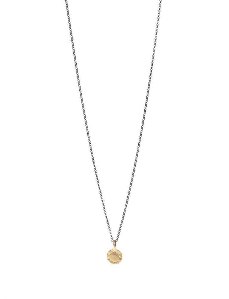 Mini Sundisk Open Sun Necklace – Gold